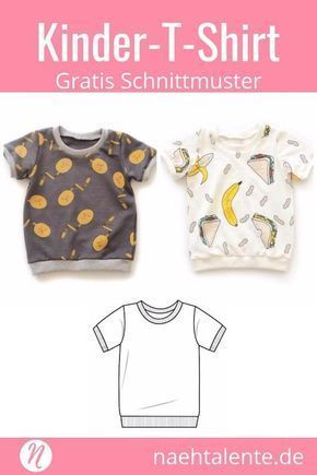 Photo of T-Shirt für Kinder – Freebook für Kurz- und Langarmshirts | Nähtalente