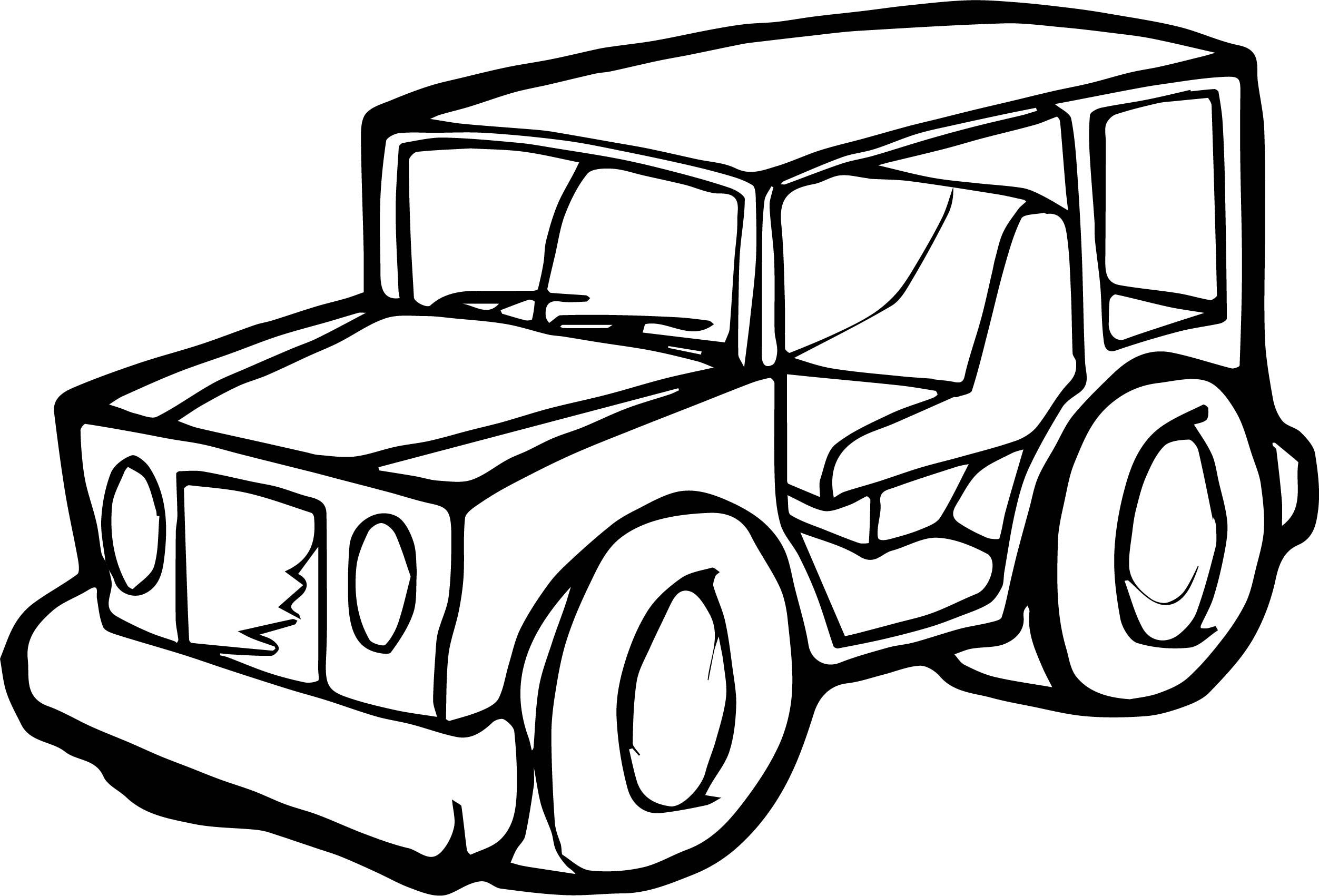 Nice Jeep Car Coloring Page