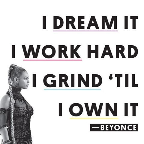 Sometimes you just need a little motivation from @Beyonce to get you through Friday! #inspiration #quotes
