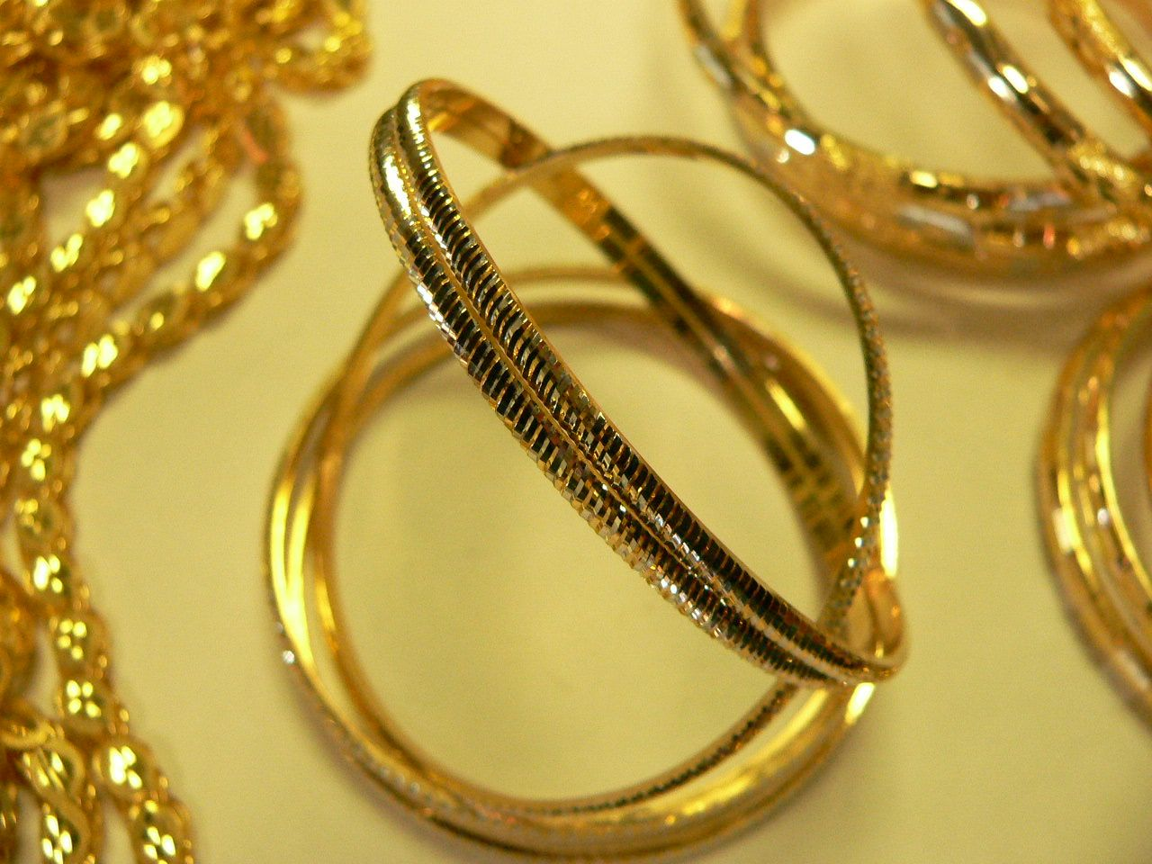 New Bangles in 21 karat gold now at NJ Diamonds Jewelry Pinterest