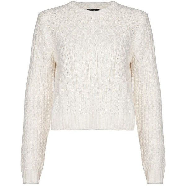 Dex Cropped Cable-Knit Sweater ($48) ❤ liked on Polyvore ...