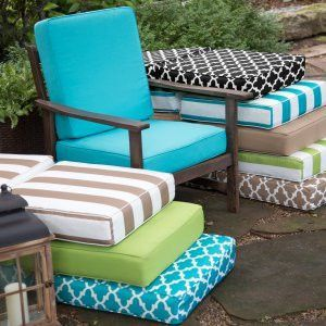 9111 Outdoor Cushions Recovered 27 X 27 X 5 Outdoor Seat Cushions Deep Seat Cushions Patio Cushions