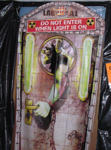 Mad Scientist birthday party entry door door decoration contest - mad scientist halloween decorations