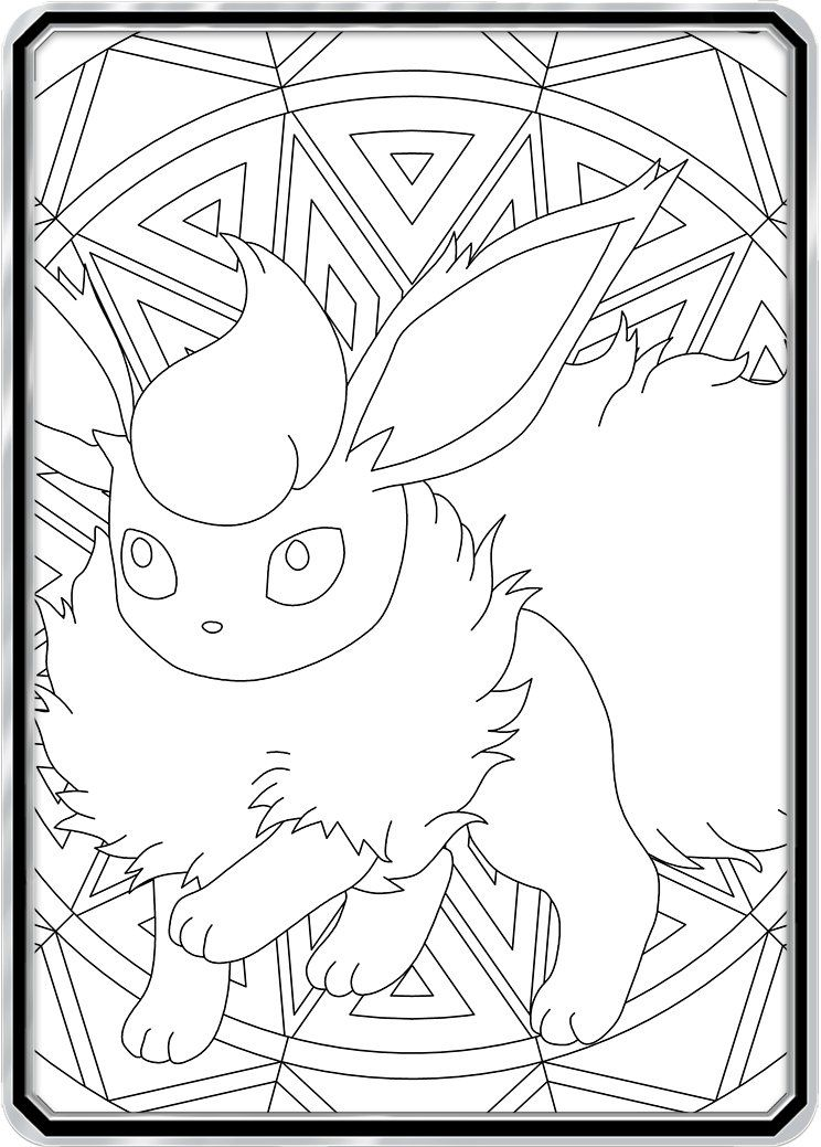 Color Me Flareon Custom Pokemon Coloring Card Pokemon Coloring
