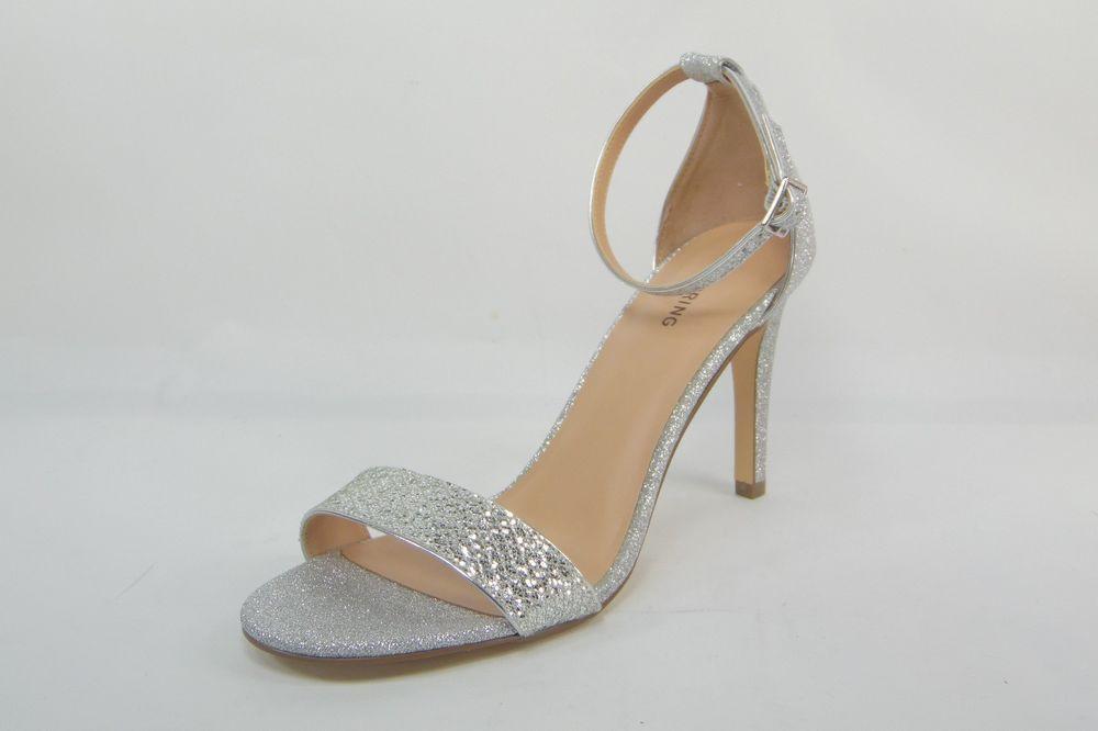 fdf93ee95195e1 Call It Spring Womens Sandals Waylanda Silver High Heels Ankle Strap Size  US 10  CallItSpring  Heels