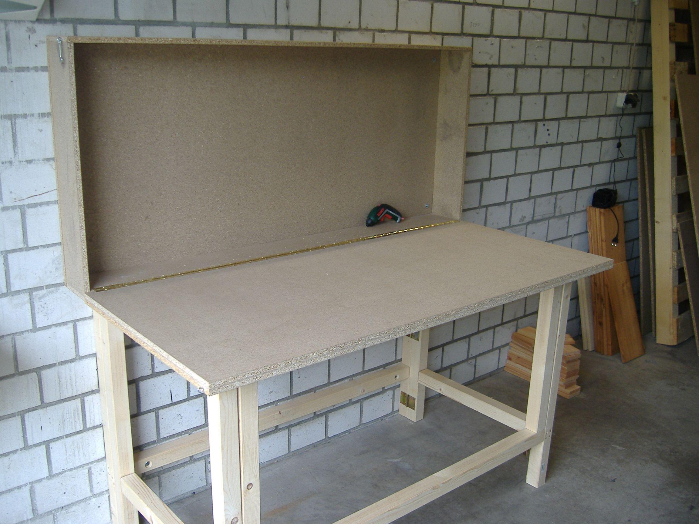 Werkzeugschrank arbeitstisch kombi bauanleitung zum selber for Arbeitstisch kuche selber bauen