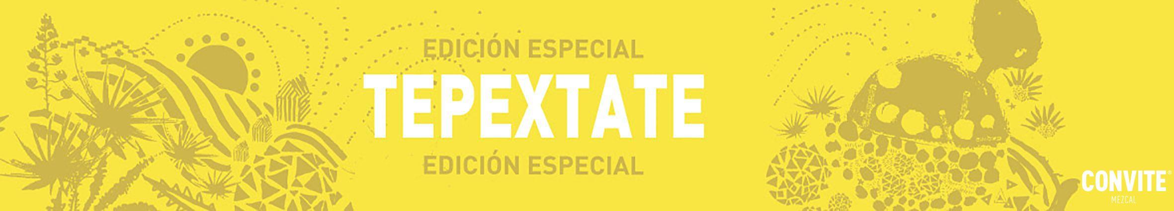 "Mezcal de Agave Tepextate. Distintivo de Mezcal Convite ""Tepextate""."