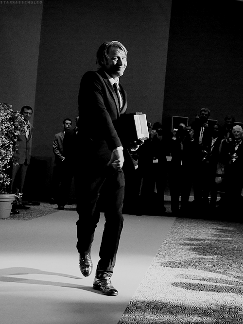 A very, very, very happy Mads after his Cannes win