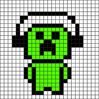 Minecraft Creeper Minecraft Pixel Art Pixel Art Pixel Art Grid