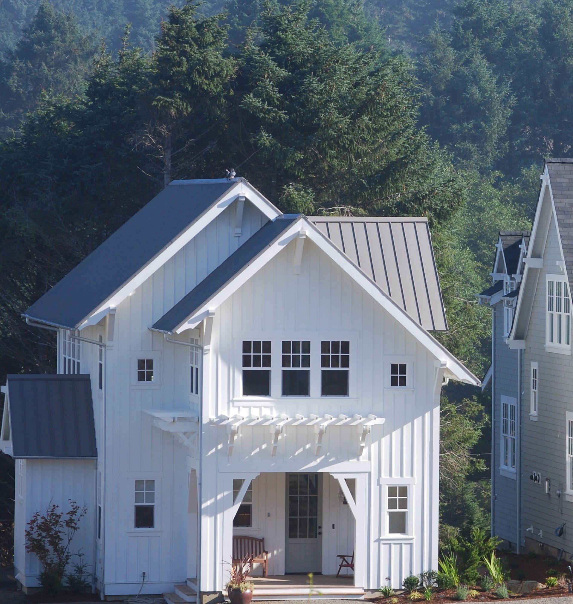 Mill House; White Board & Batten; Board & Batten; Metal Roof; Beach ...