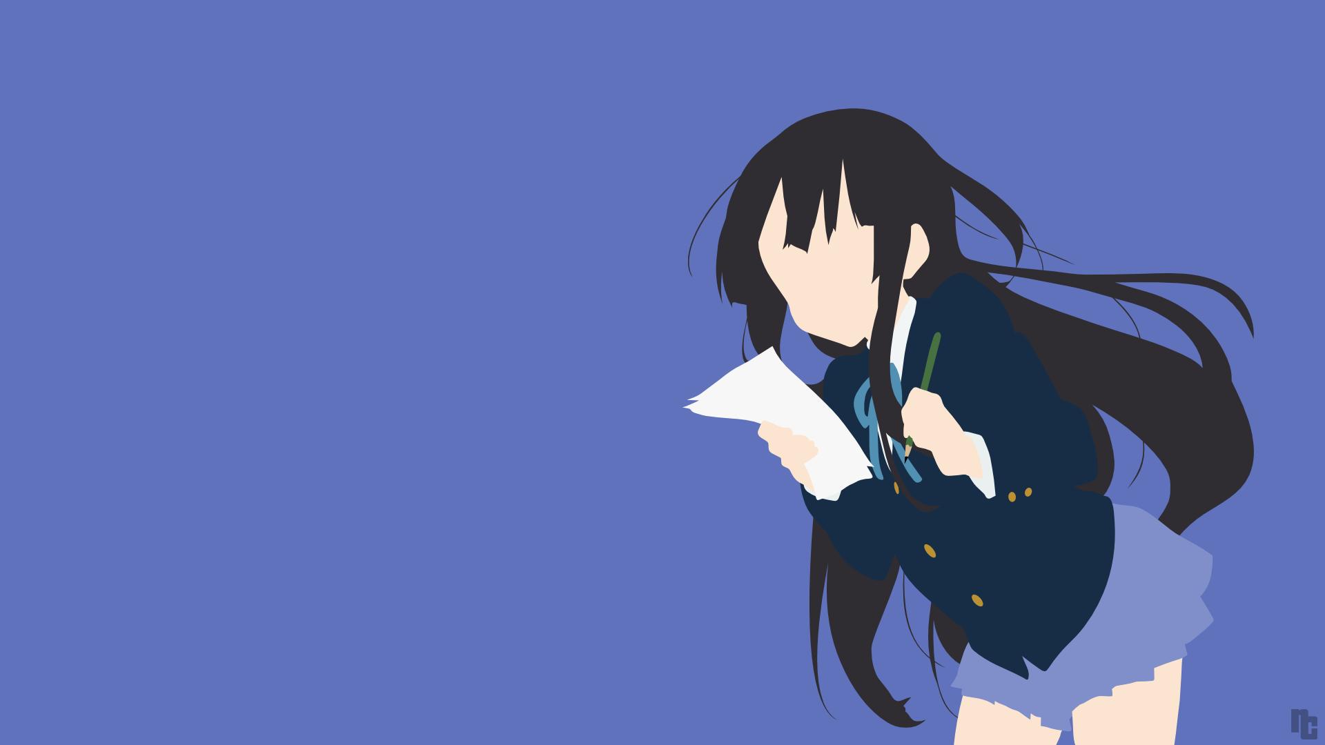 Mio K On Minimalist Wallpaper Anime Animacion Kirara