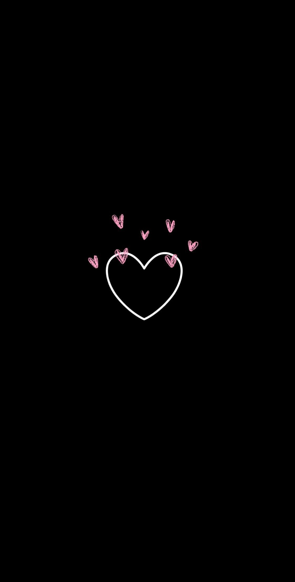 Pin On Imagens Fofas Heart emoji iphone black love wallpaper