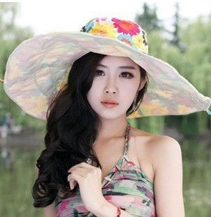 5344553c223 2016 Summer large brim beach sun hats for women UV protection women caps hat  with big