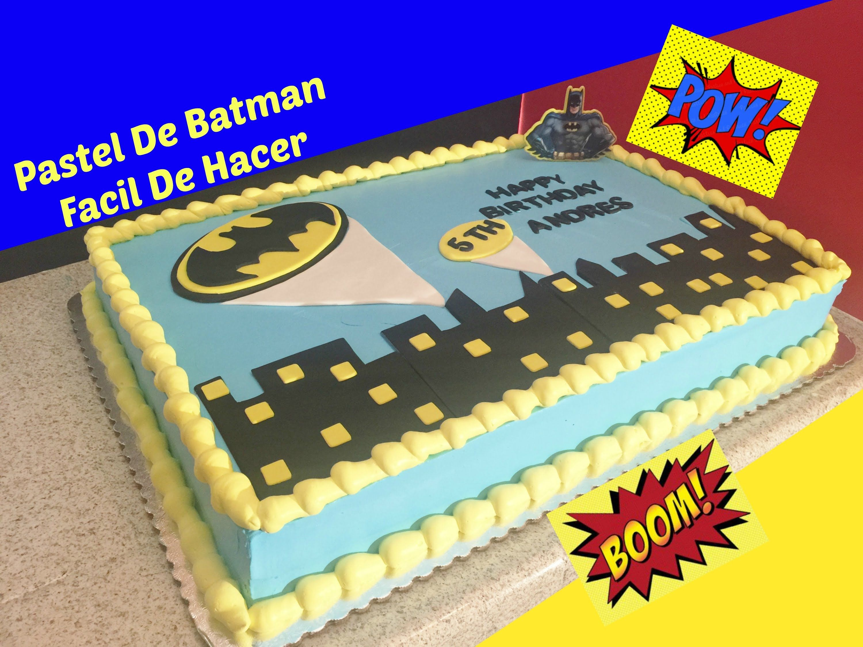 Como Decorar Un Pastel De Batman Facil cakefondant video