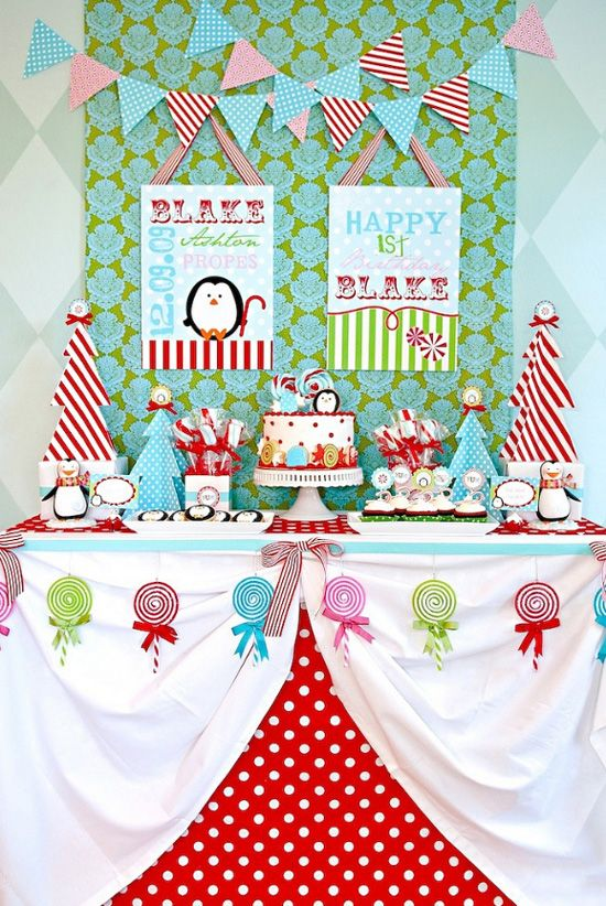 Christmas 1st Birthday Party Ideas Part - 21: Birthday Party Ideas