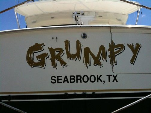 Grumpy Boat Name Seabrook Texas Designed Printed And