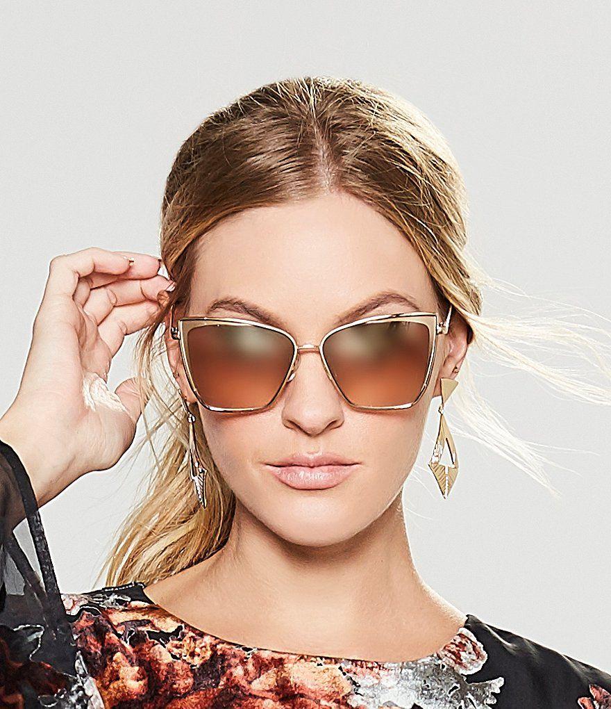 b65e8c9006 DIFF Eyewear Becky Polarized Gradient Cat-Eye Sunglasses