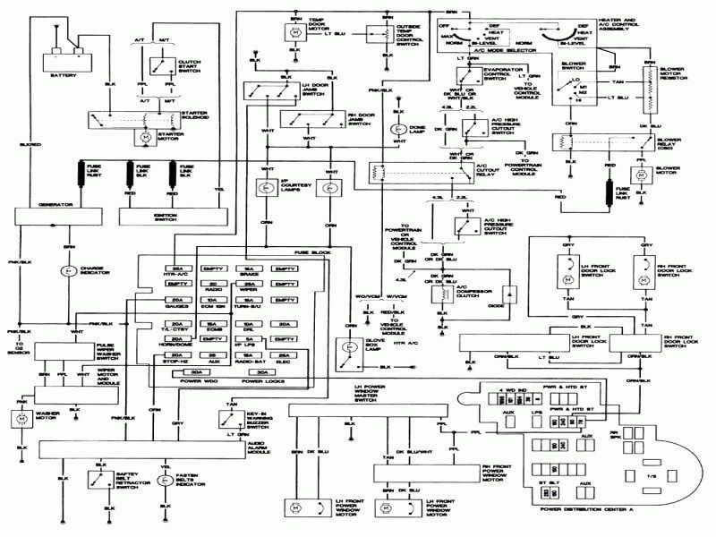 Wiring Diagram For 1993 Chevy S10 Pickup Readingrat Wiring Forums Chevy S10 Chevy Silverado S10 Pickup