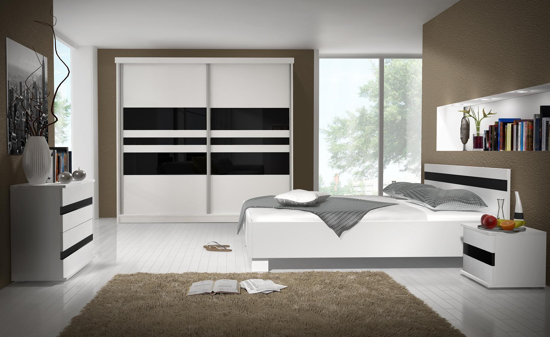 Lucca is een moderne complete slaapkamer uitgevoerd in mat wit met ...