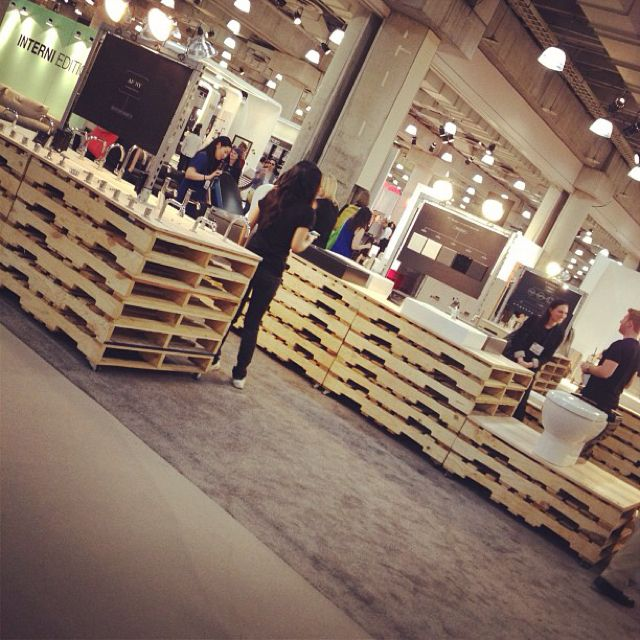 Garden Centre: From Design_milk. Tradeshow Booth Made From Pallets