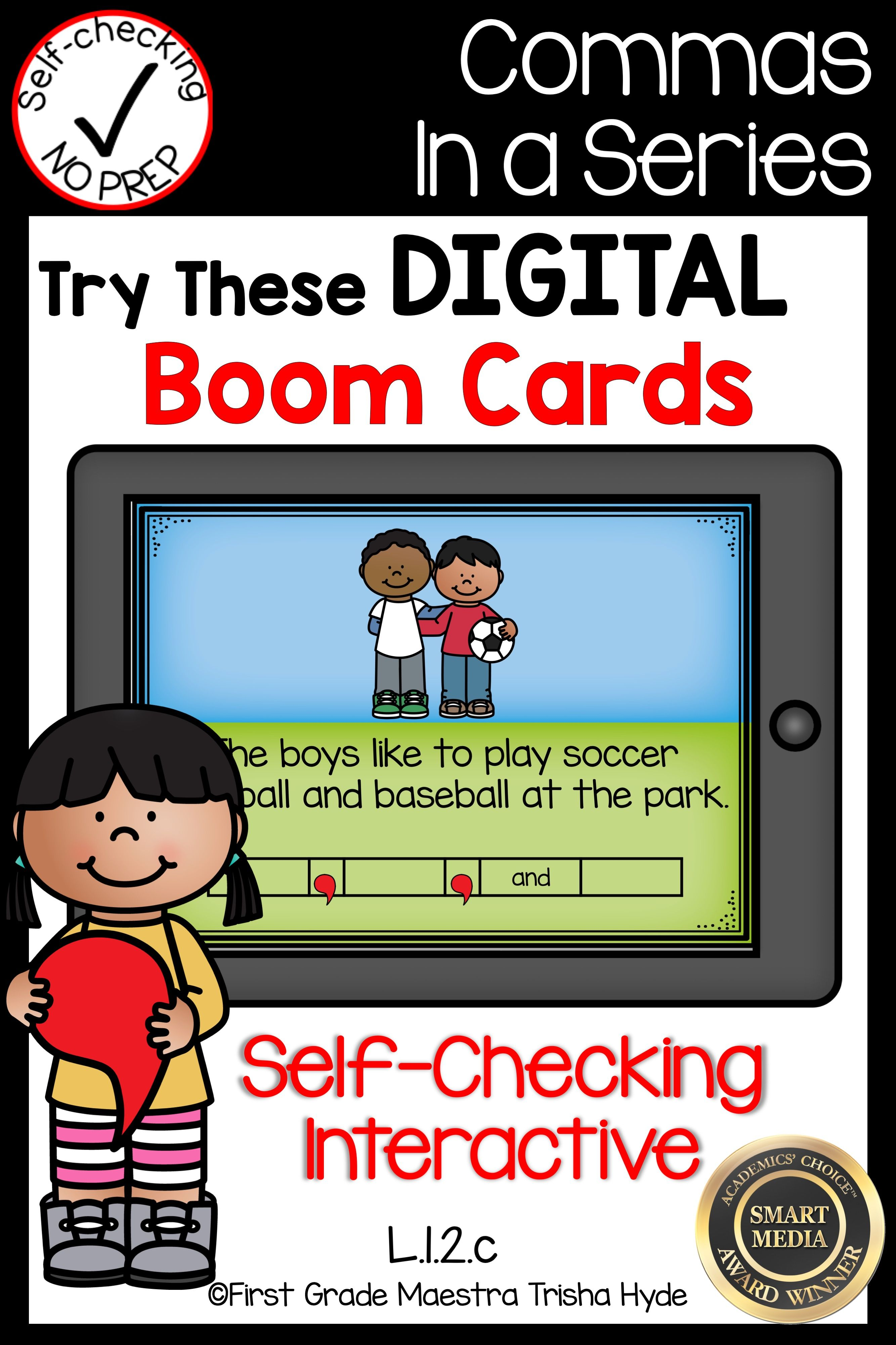 Boom Cards Commas In A Series