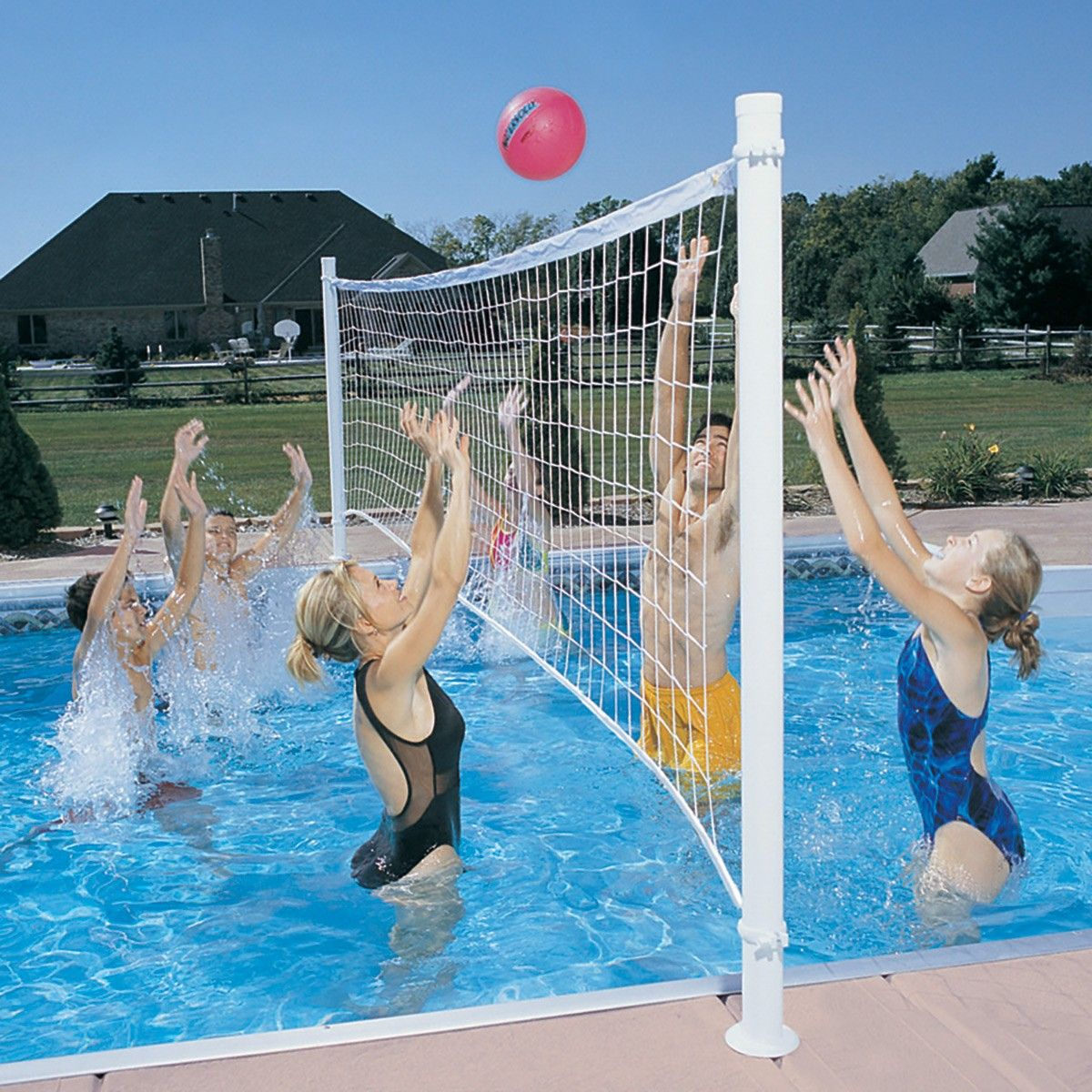 Provolly Swimming Pool Volleyball Set Pool Volleyball Net Swimming Pool Games Pool Basketball