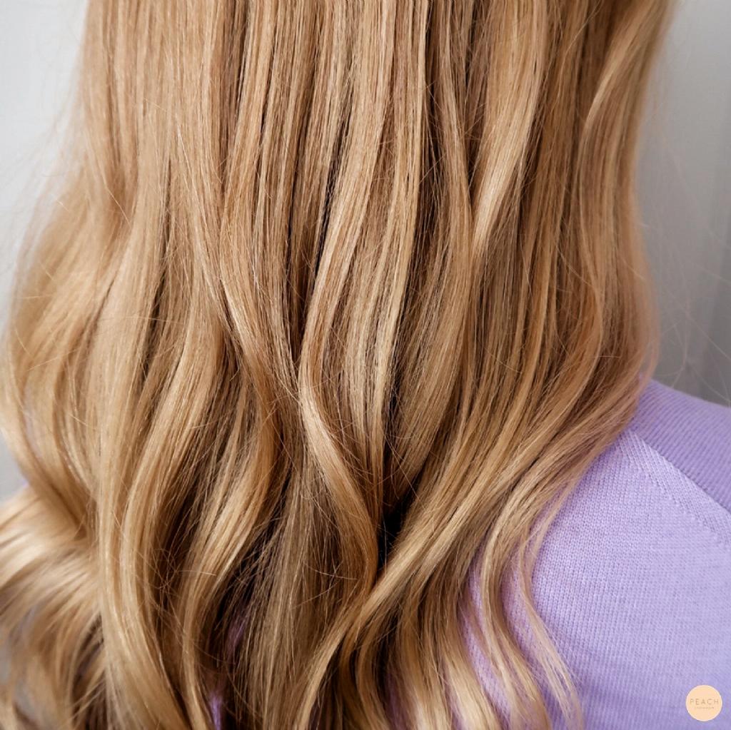 varm blond hårfarve