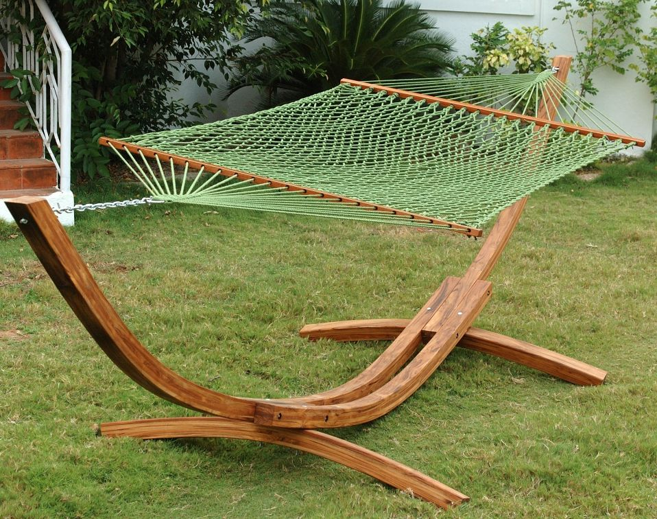 Lovely DIY Wooden Hammock With Stand (With images) Diy