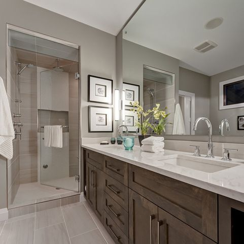 transitional bathroom design ideas, pictures, remodel and