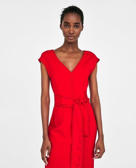 VESTIDO PESPUNTES CONTRASTE de Zara | MODA . Low Cost