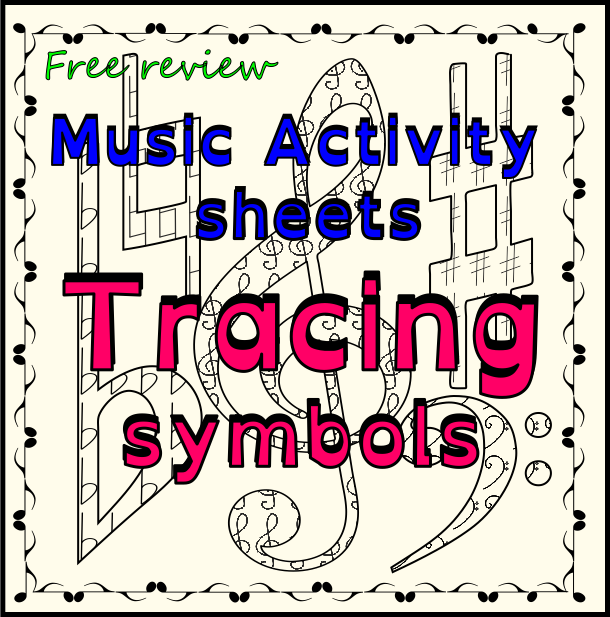 Easy And Fun Activity For Kids Trace And Color The Music Symbols