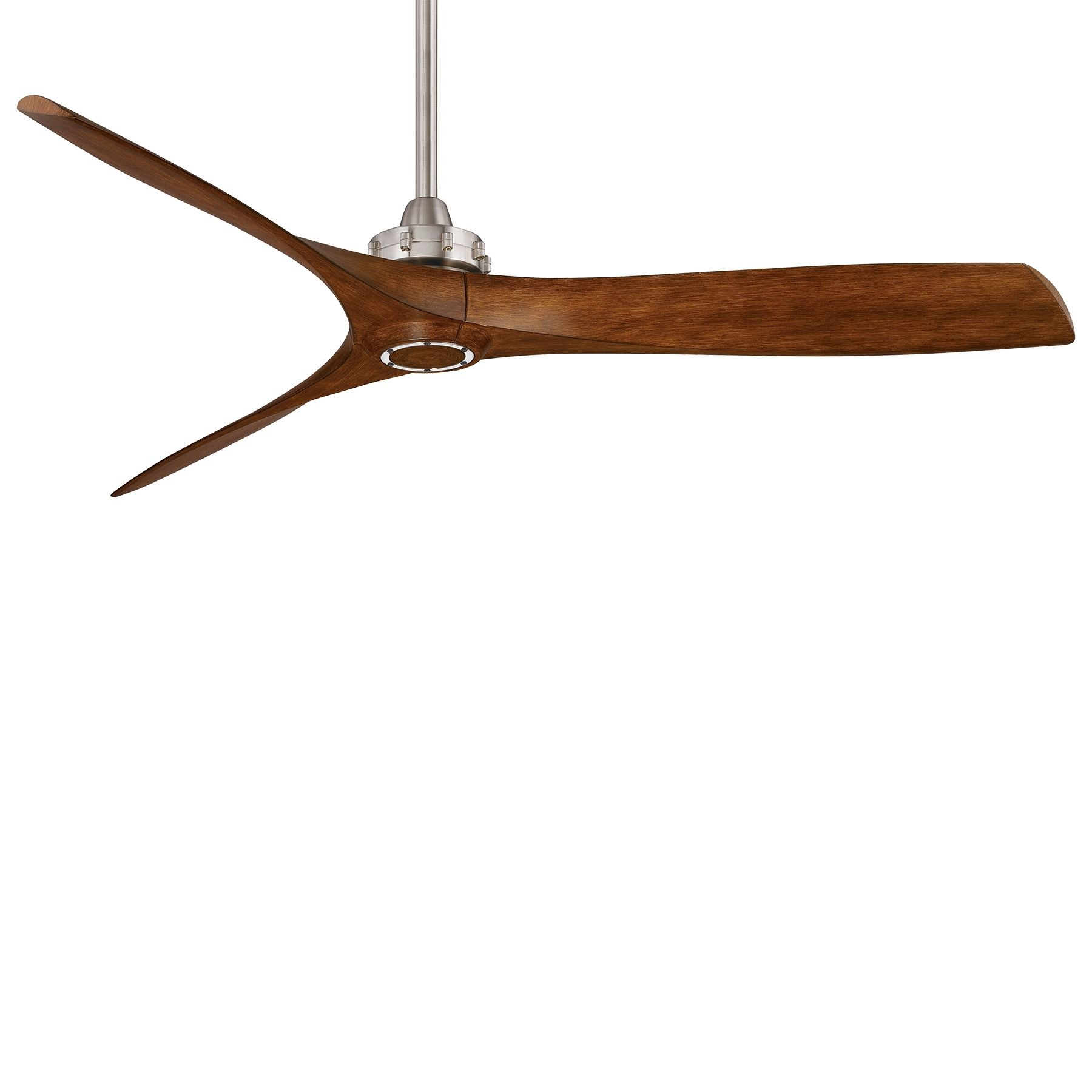 Aviation Ceiling Fan 60in Walnut Blade Nickel Three