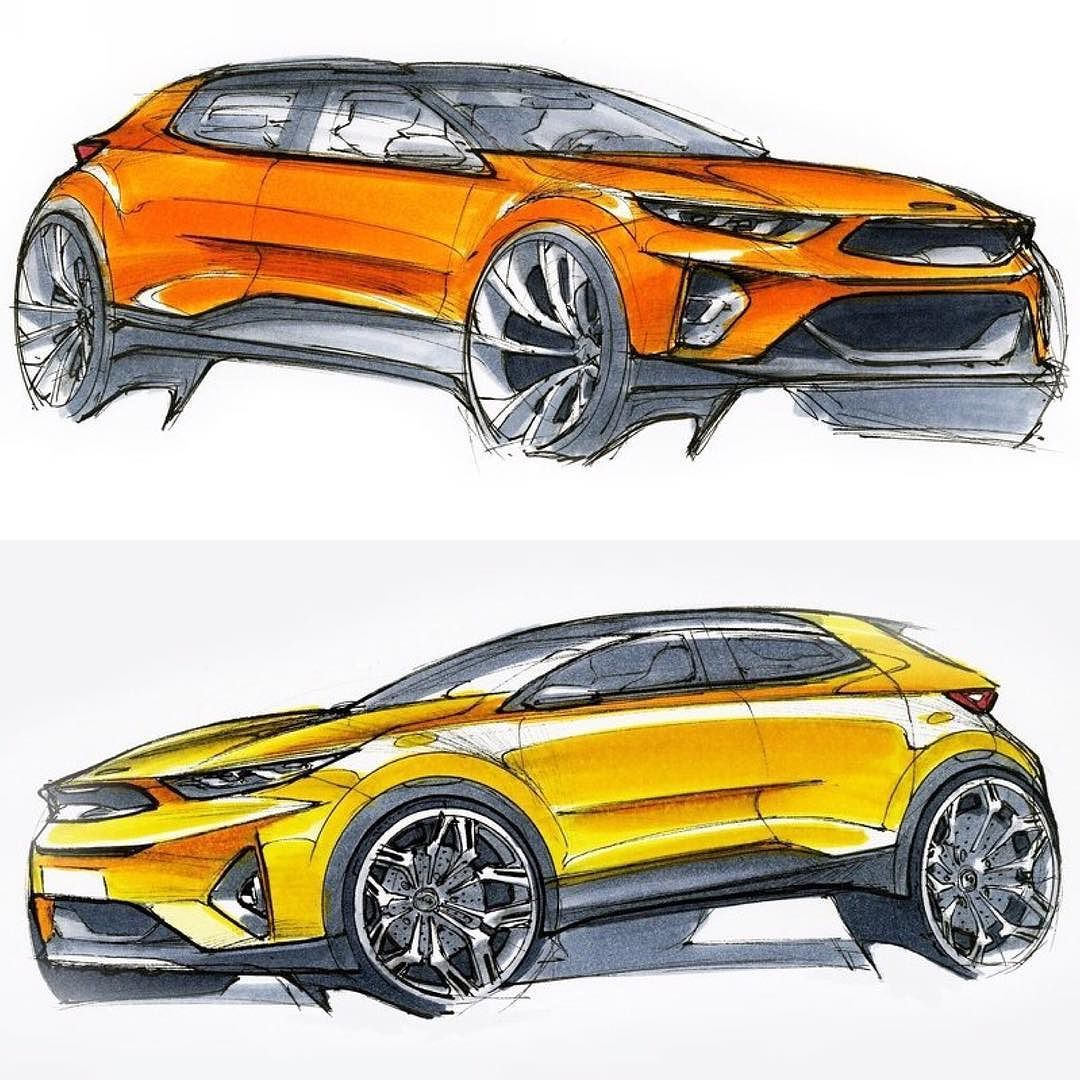 Early design sketches of the #Kia Stonic penned at the European ...