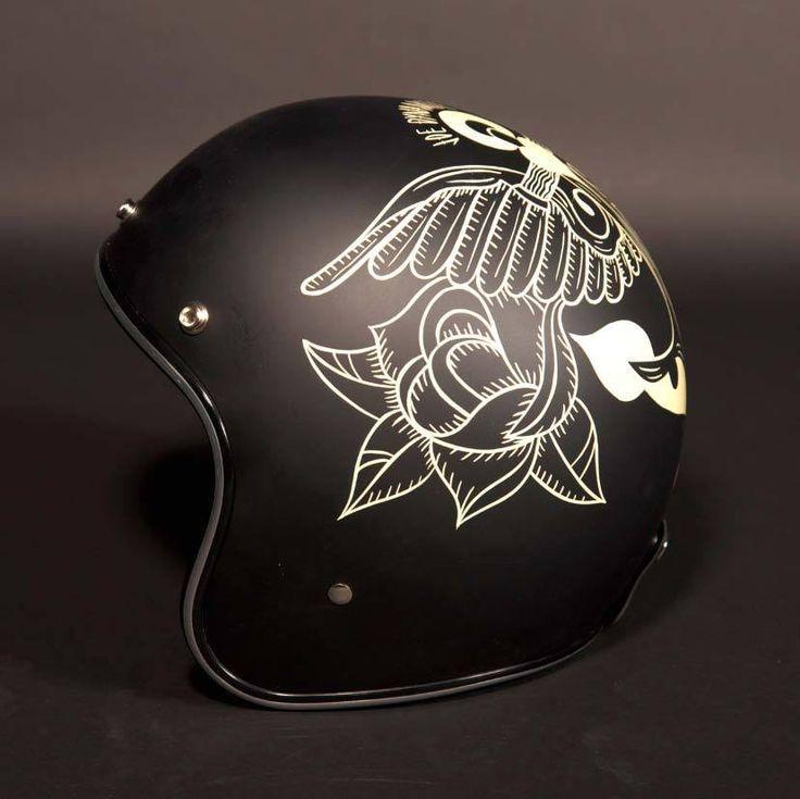 Half Shell Helmets Custom Paint Google Search Motorcycle Helmets Motorcycle Helmets Vintage Cool Motorcycle Helmets