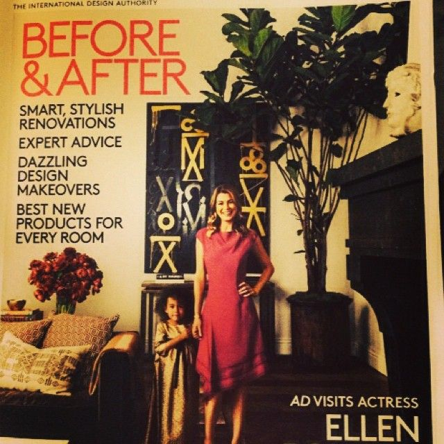 Current issue of AD is a feast for the eyes. @EllenPompeo is one bad ass starlet, designer and mama. She added a hammam… enough said. #swoon #mediterraneanbeauty