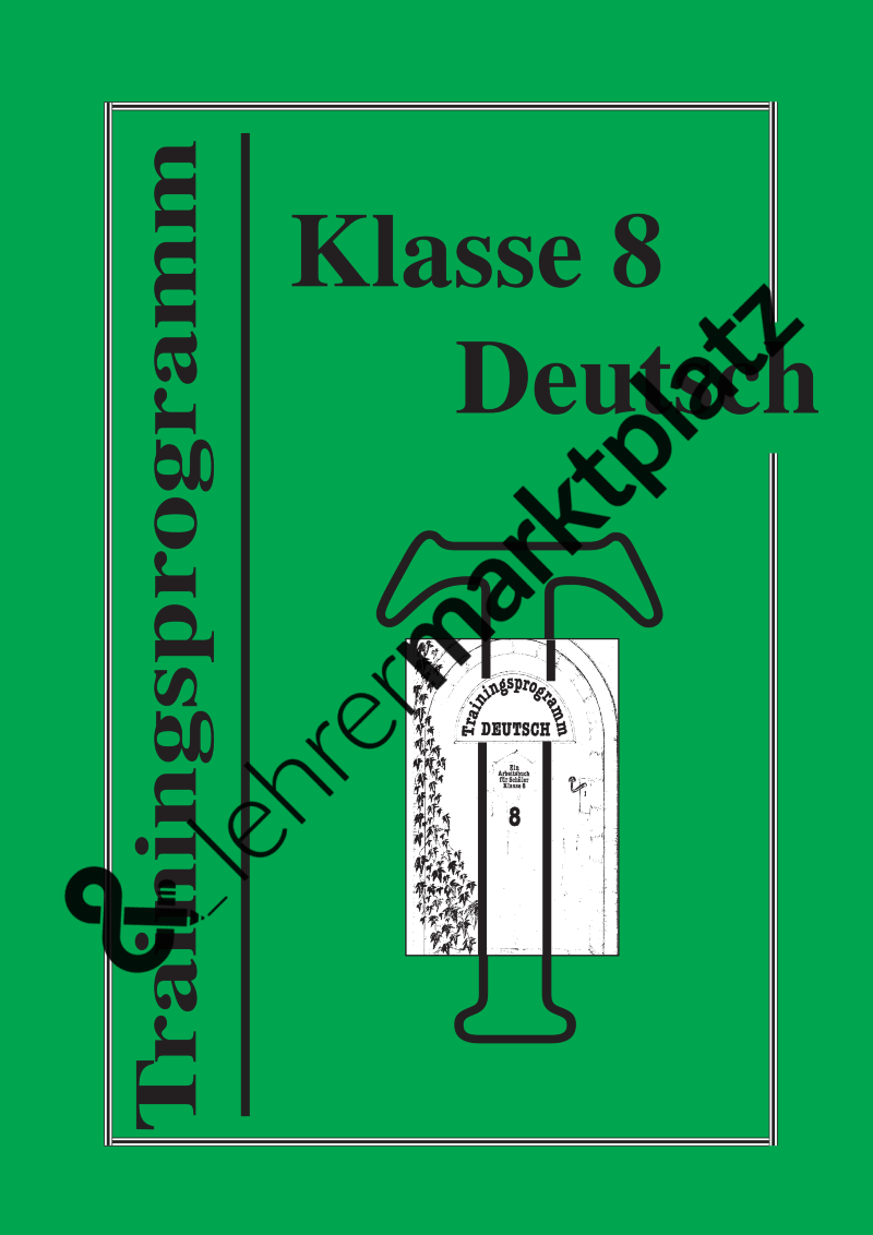 Trainingsprogramm Deutsch 8 – Deutsch | Unterrichtsmaterialien ...