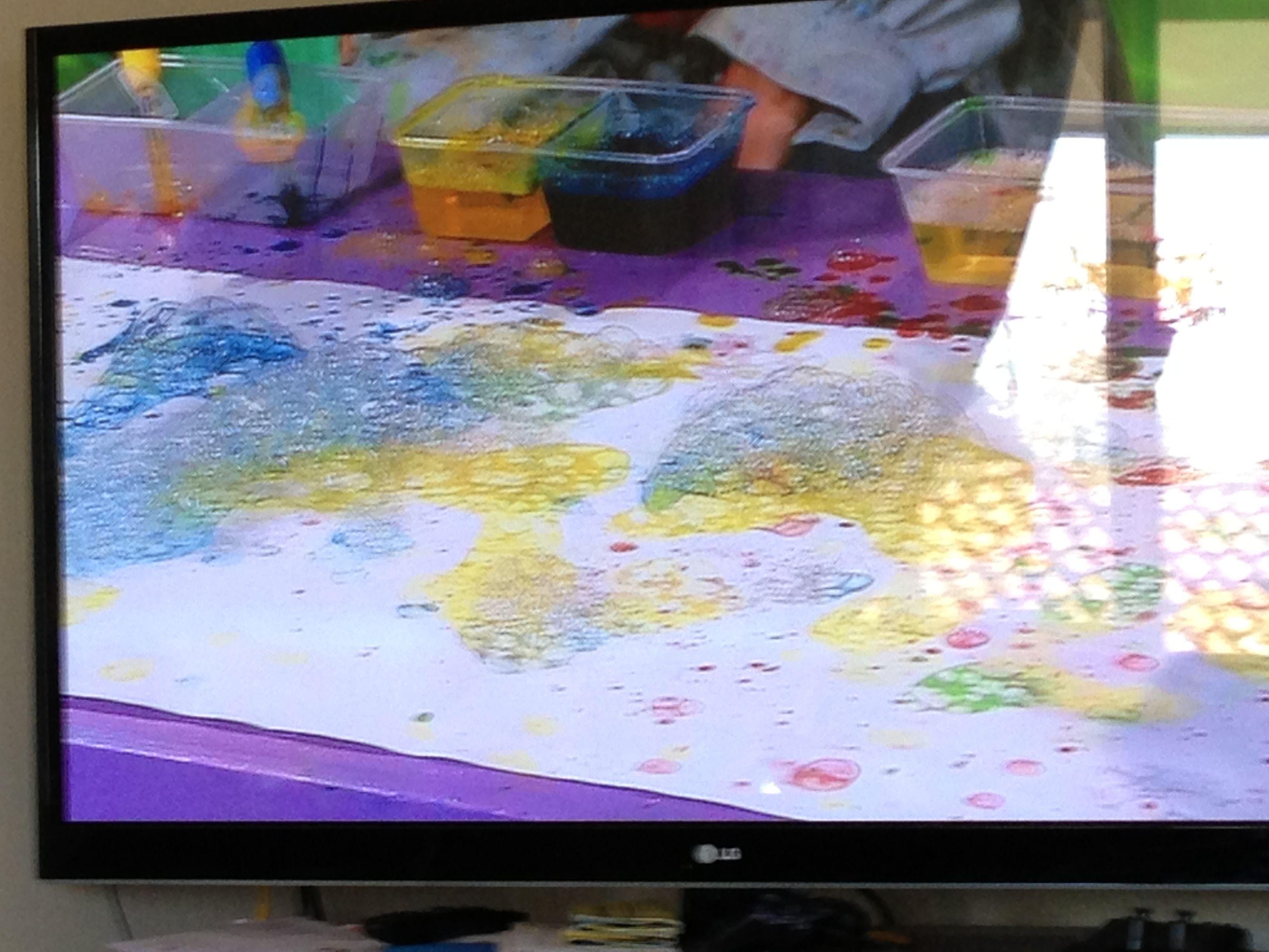 Bright Bursting Bubble Art Rpetualpreschool
