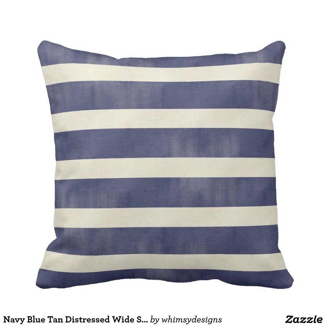 Navy And White Striped Pillows