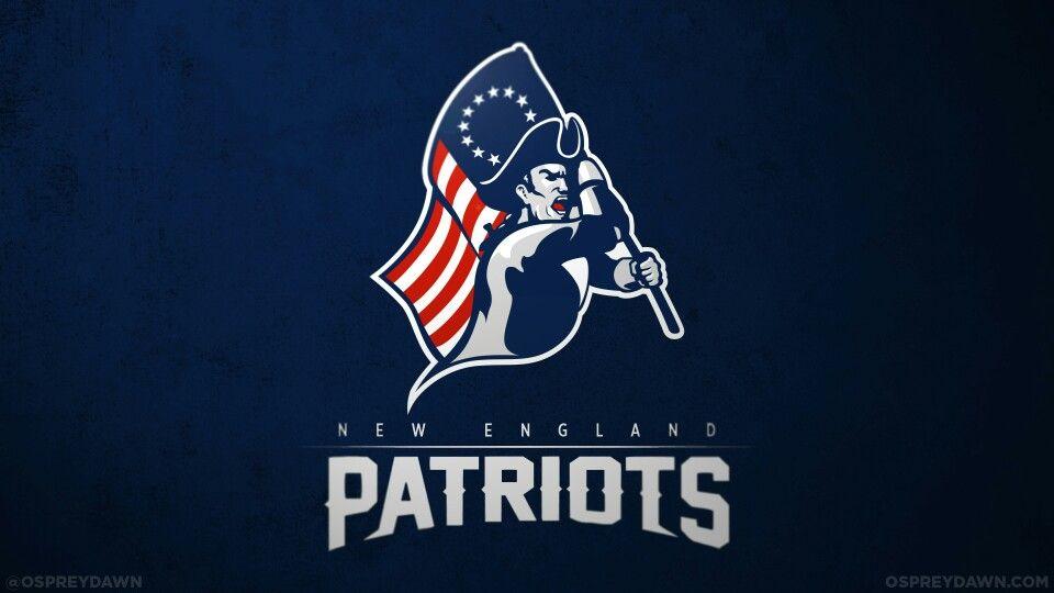 Patriots concept logo New england patriots, Patriots