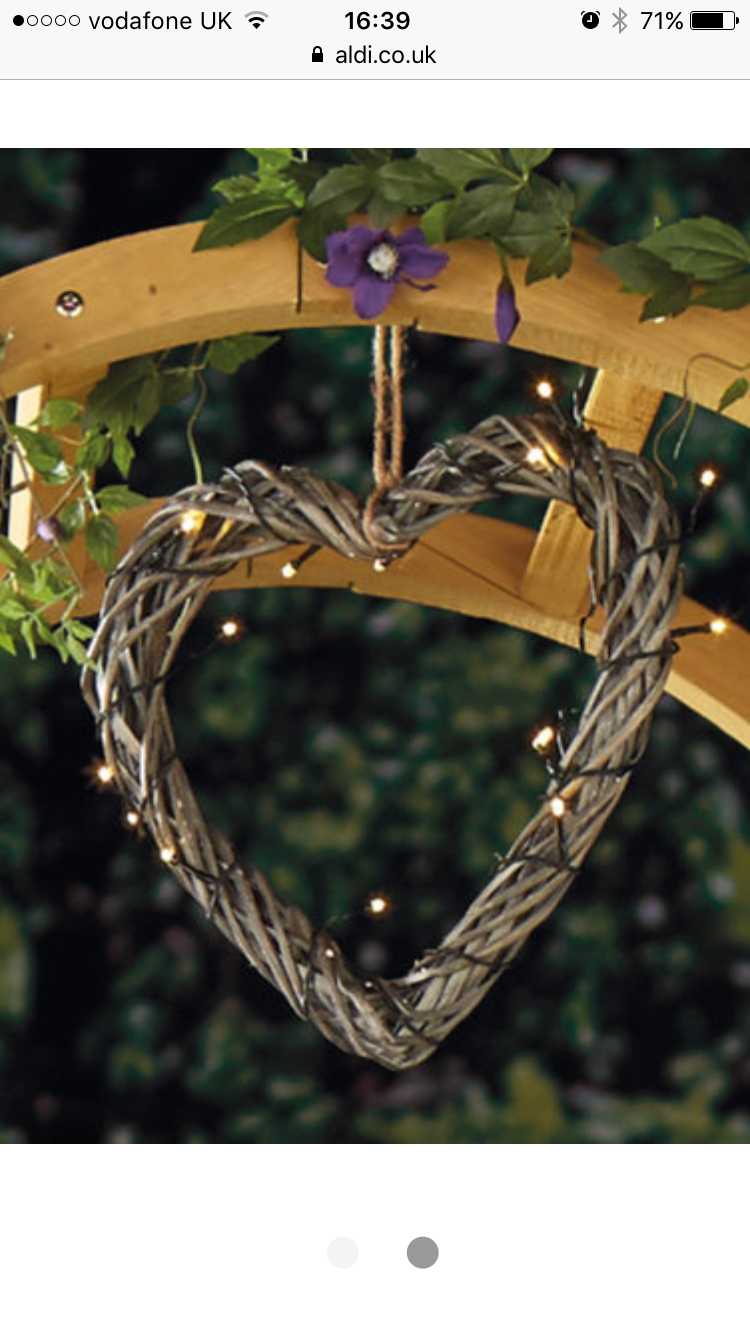 solar willow heart led lights from aldi for the new garden new