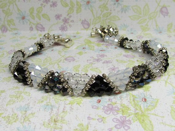 Swarovski Crystal Bracelet by WillowbendCottage on Etsy