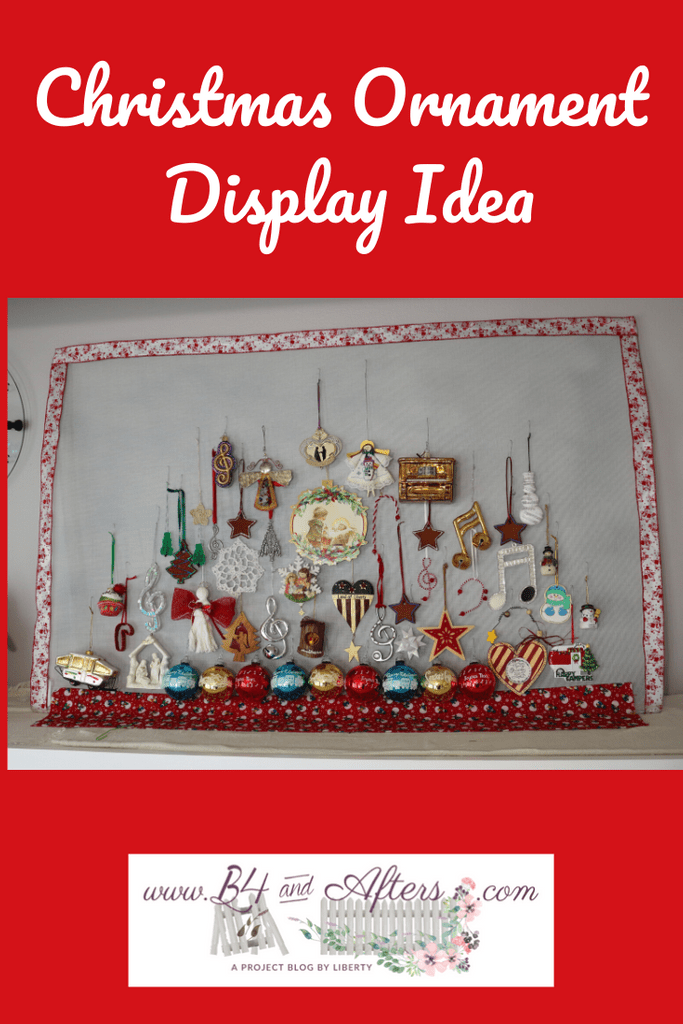 Christmas Ornament Display Screen - B4 and Afters
