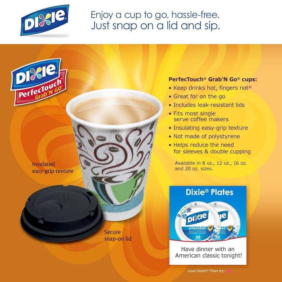 Dixie Perfec #Touch Insulated Paper #Cups, #Coffee Haze, 12