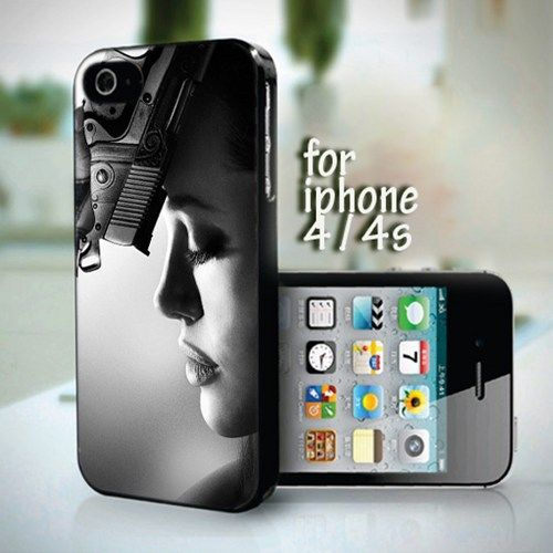 Pretty Angelina Jolie Classic 4 design for iPhone 4 / 4s case