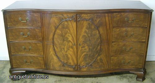 Photo Of Antique Romweber Flame Mahogany Sideboard