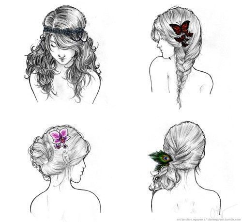 Boho Hairstyles Drawing Google Search Fashion Templates - Hairstyle drawing tumblr