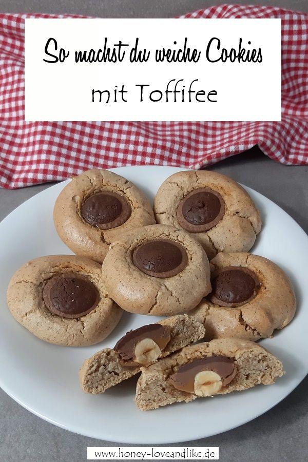 Backen mit Toffifee! So machst du weiche Cookies mit Toffifee #quickcookies