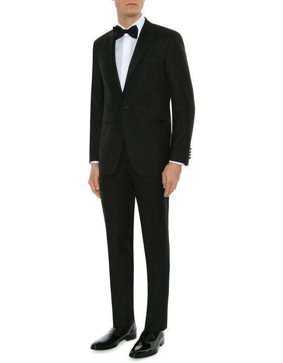 cdee1865b2f Canali Black wool tuxedo with subtle texture | The classic tuxedo is  presented this season in a luxurious pure wool fabric and features a subtle  texture for ...
