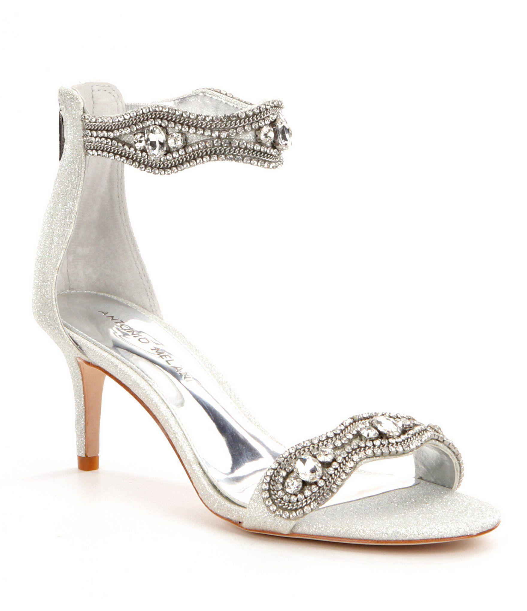 Sadina Rhinestone-Embellished Ankle Strap Fabric Dress Sandals 7YbPkFPd