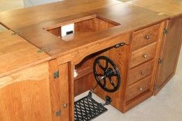 Reproduction Amish Handcrafted Treadle Sewing Machine Cabinet ...